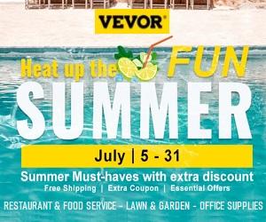 تتميز منتجات VEVOR.com بجودة عالية وأسعار لا تقبل المنافسة.